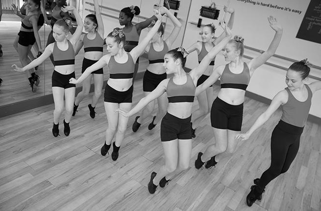 Tap dance class.